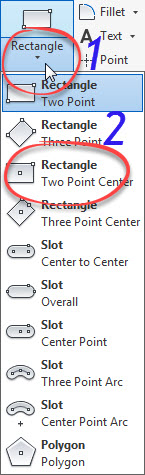 6. Rectangle Two Point Center